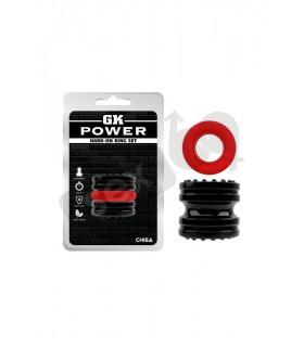 Эрекционное кольцо без вибрации, черно-красный, 4.3-4.5см - No Taboo