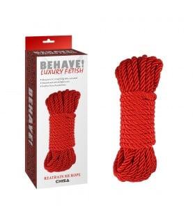 Мотузка для бондажа, червона, 10 м - No Taboo