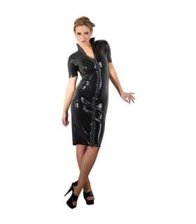 Латексное платье LateX, черное, размер S - No Taboo