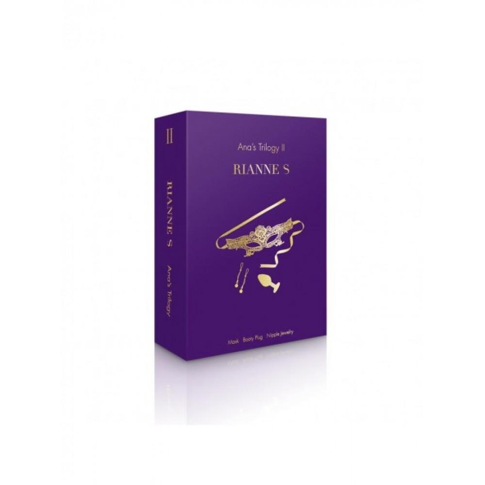 Набор аксессуаров Rianne S для БДСМ фиолетового цвета (40689), фото 7 — секс шоп Украина, NO TABOO