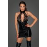 Сукня спандекс Noir Handmade з гіпюром, чорна, XL
