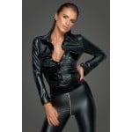 Куртка из спандекса и винила Noir Handmade, размер L