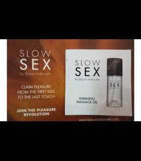 ПРОБНИК Разогревающее съедобное массажное масло WARMING MASSAGE OIL Slow Sex Bijoux Indiscrets - No Taboo