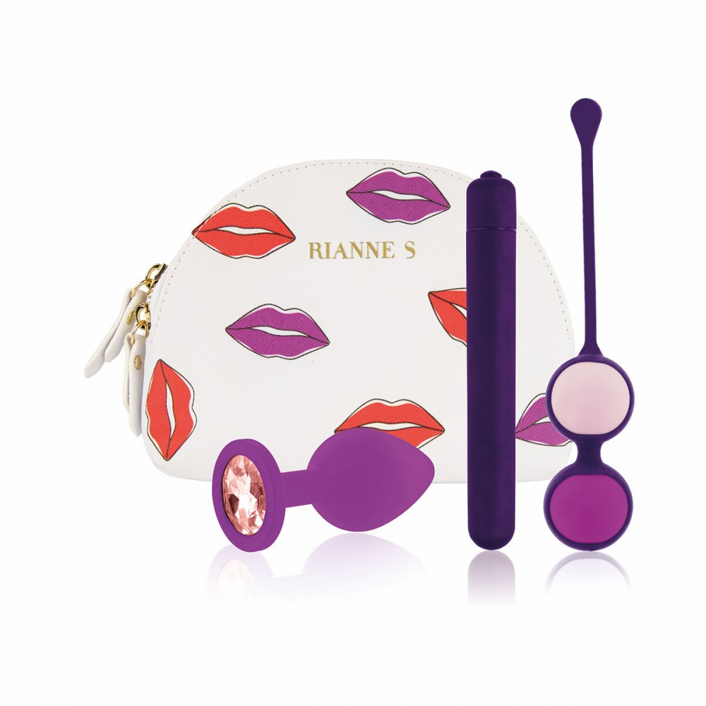 Набор секс-игрушек в сумочке, фиолетовый, 3 предмета (40731)