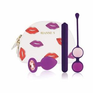 Набор секс-игрушек в сумочке, фиолетовый, 3 предмета (40731), zoom