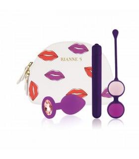 Набор секс-игрушек в сумочке, фиолетовый, 3 предмета - No Taboo