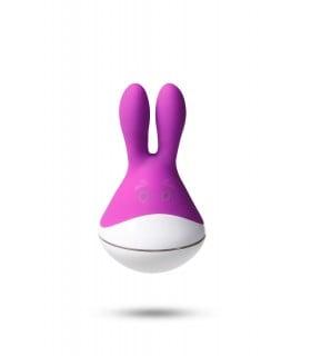 Вибратор клиторальный Odeco в виде зайчика, фиолетовый, 9 х 5 см - No Taboo