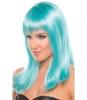 Перука з чубчиком Hollywood Wig, блакитного кольору, 33 см - No Taboo
