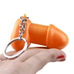 Брелок в виде члена, оранжевый