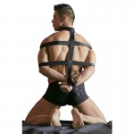 БДСМ бондаж для шеи, тела и запястий, мужской, черный