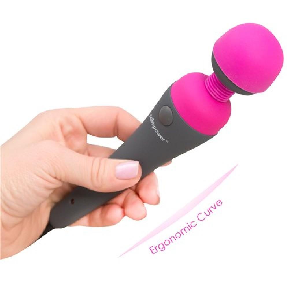 Вибромассажер микрофон, силиконовый, розовый с черным, 19.5 х 4 см (8678)