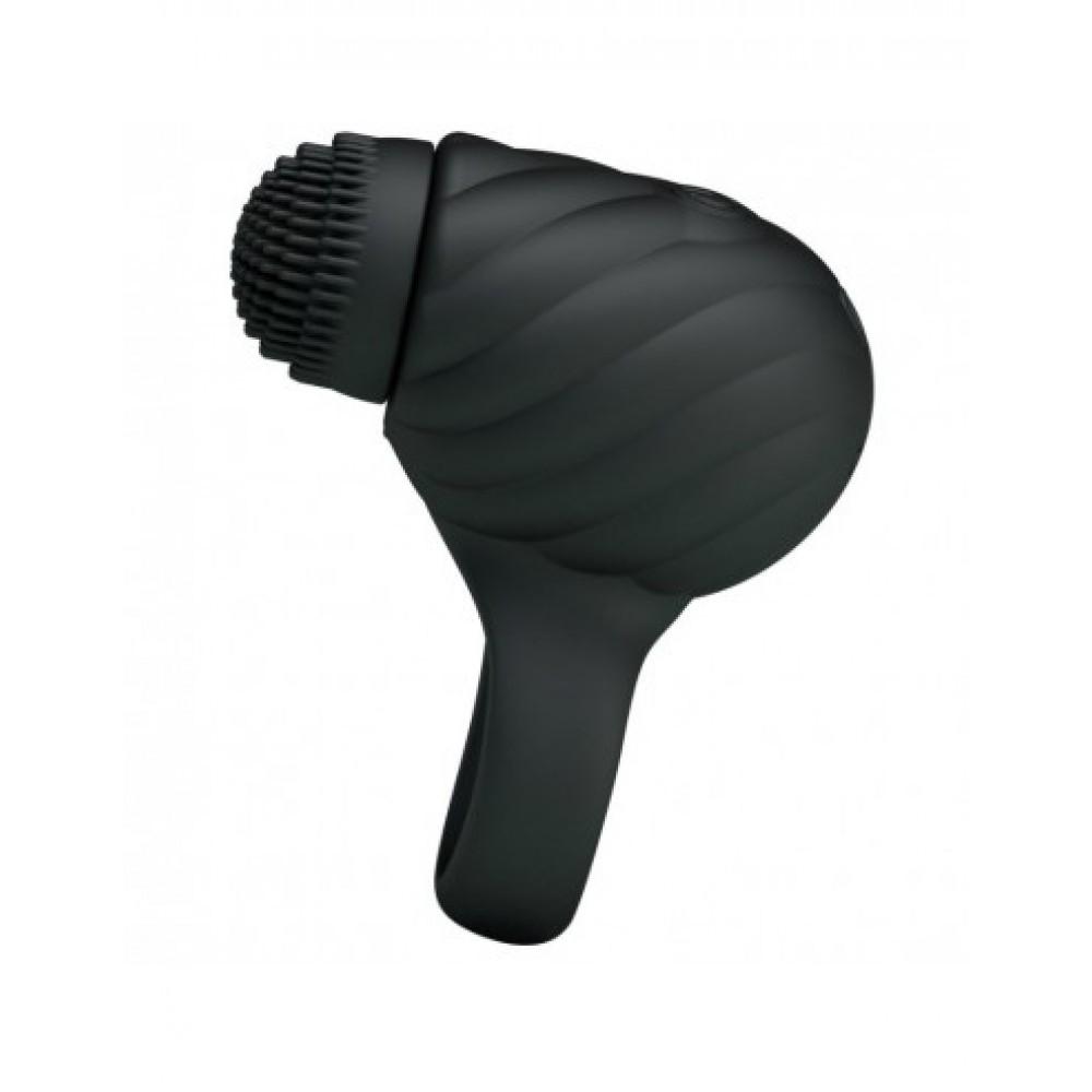 Эрекционное кольцо черного цвета с вибрацией и ротацией Florence - No Taboo