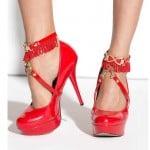 Прикраса на ноги під взуття червоне Me-Seduce