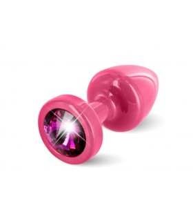Французская анальная бижутерия с камнем сваровски розовая Diogol ANNI round pink S - No Taboo