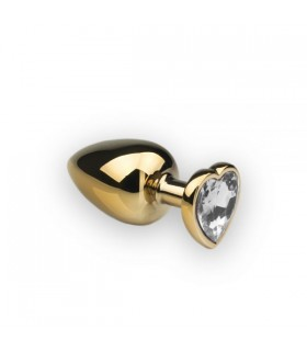 Анальная пробка,Gold Heart Diamond, L - No Taboo