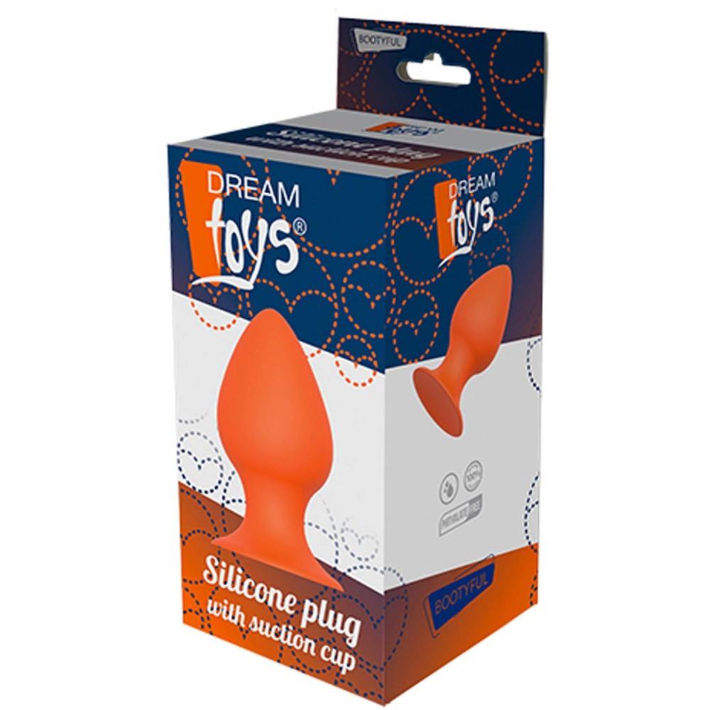 Анальная пробка с присоской DREAM TOYS ORANGE PLUG (32660), фото 2