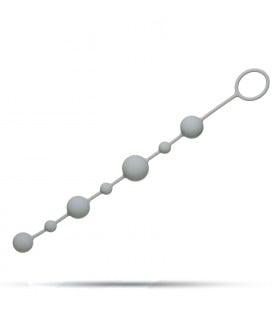 Анальные бусы 100% силикон серый - No Taboo