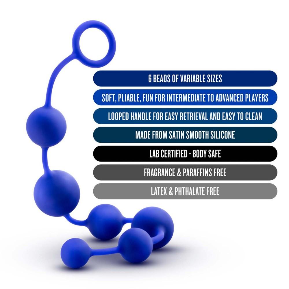 Анальные бусы Blush, синие (34668)