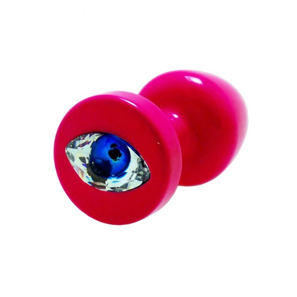 Французская анальная бижутерия из алюминия с камнем в виде глаза 30 mm (34280)