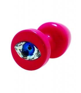 Французская анальная бижутерия из алюминия с камнем в виде глаза 30 mm - No Taboo