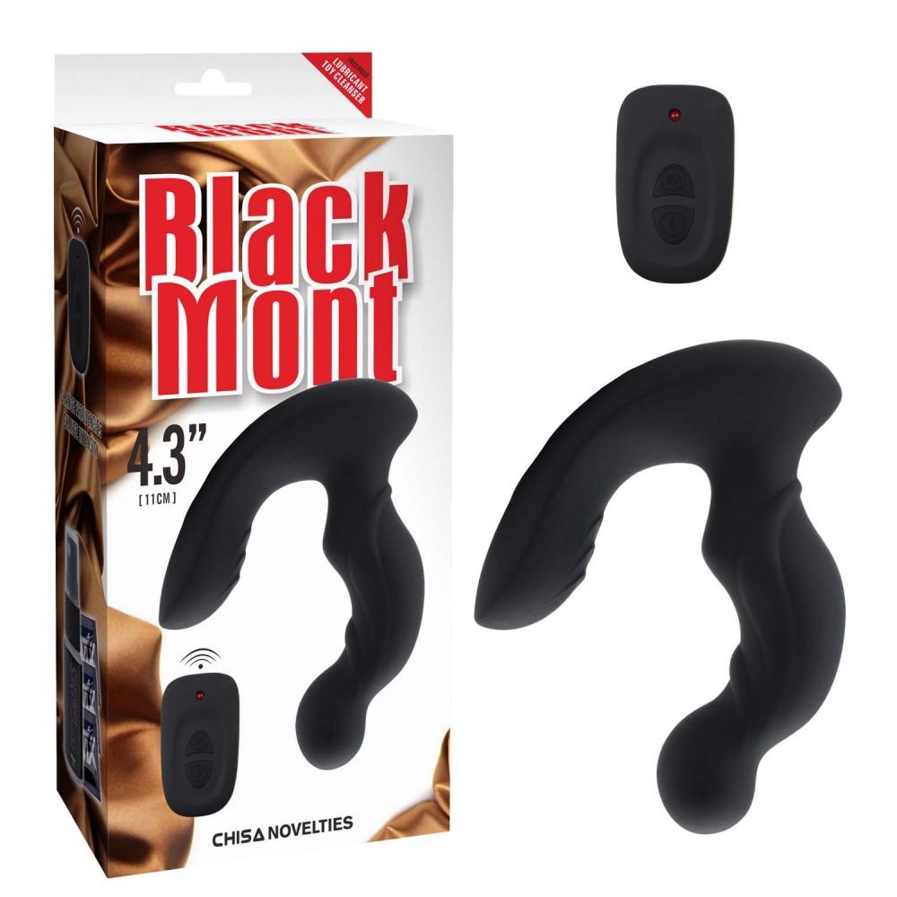 Массажер простаты Black Mont силиконовый, черный (29051), фото 1 — секс шоп Украина, NO TABOO