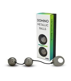 Вагинальные шарики DOMINO Metallik Black - No Taboo