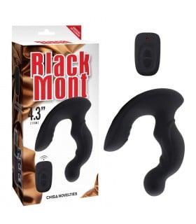 Массажер простаты Black Mont силиконовый, черный - No Taboo