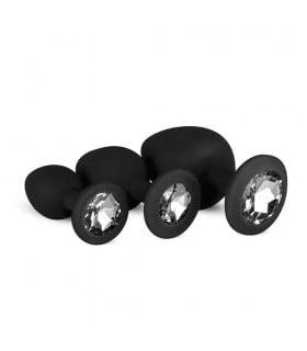 Набор анальных пробок Diamond plug черный EasyToys - No Taboo