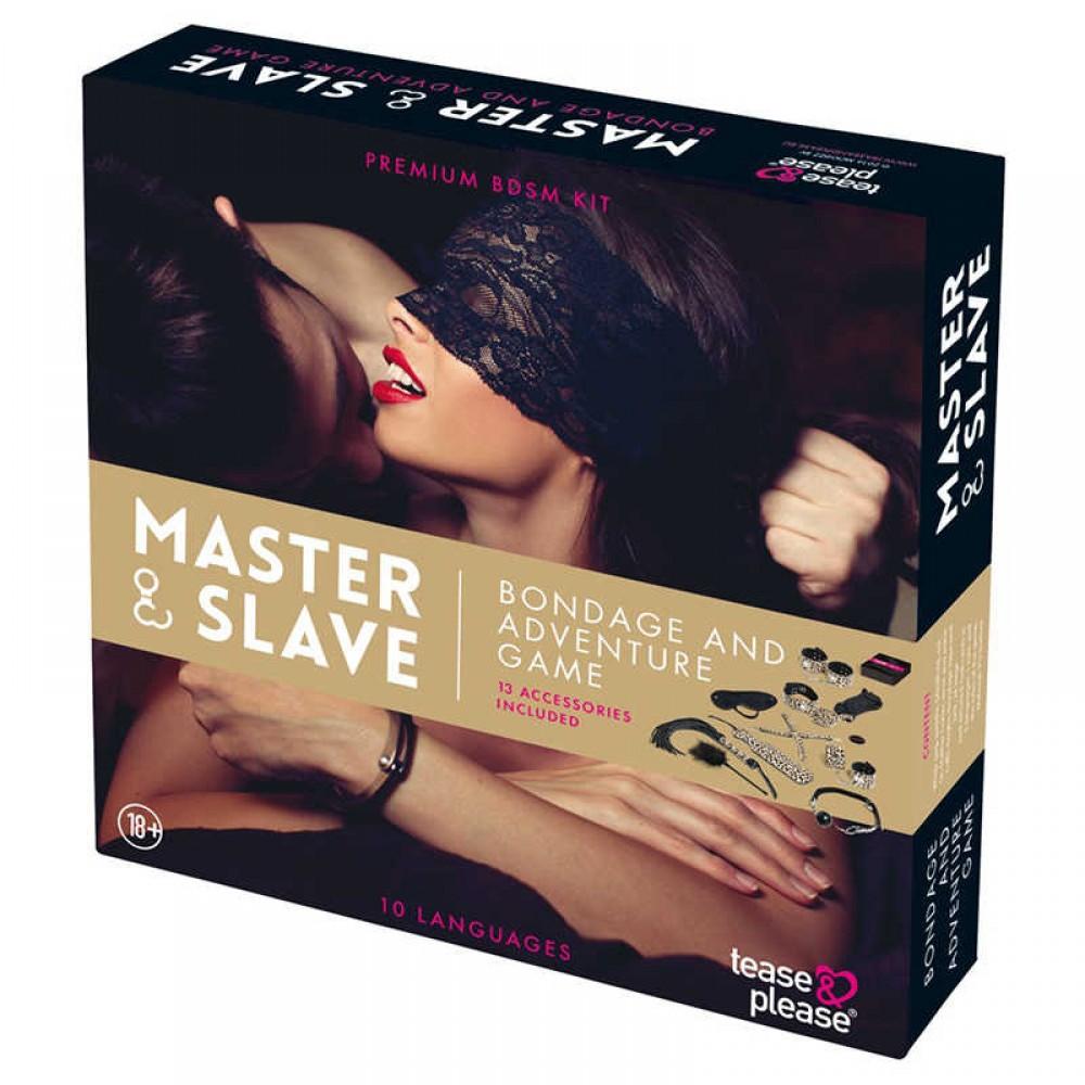 БДСМ набор с заданиями Master & Slave BDSM Kit, леопард (34455), фото 2 — секс шоп Украина, NO TABOO