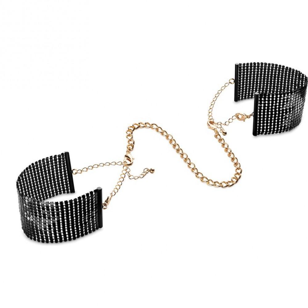 Браслеты - наручники DESIR METALLIQUE чёрные Bijoux Indiscrets (30943), фото 1