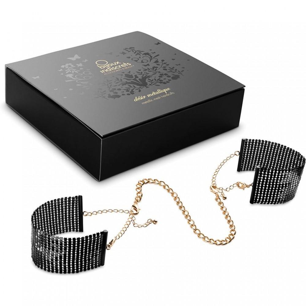 Браслеты - наручники DESIR METALLIQUE чёрные Bijoux Indiscrets (30943), фото 2