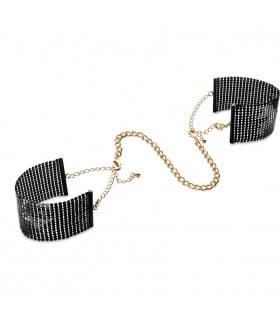 Браслеты - наручники DESIR METALLIQUE чёрные Bijoux Indiscrets