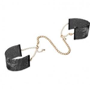 Браслеты - наручники DESIR METALLIQUE чёрные Bijoux Indiscrets (30943), zoom