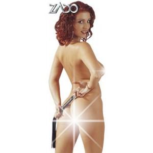 Флоггер (плетка) из кожи, черного цвета, 45 см (3517), zoom
