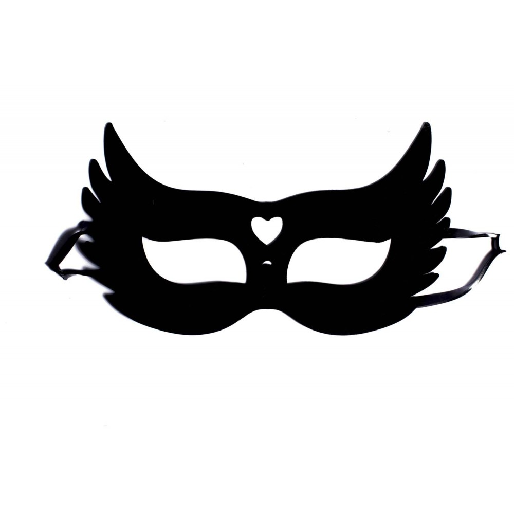 Гелевая черная маска с сердцем NO TABOO (31907), фото 2 — секс шоп Украина, NO TABOO