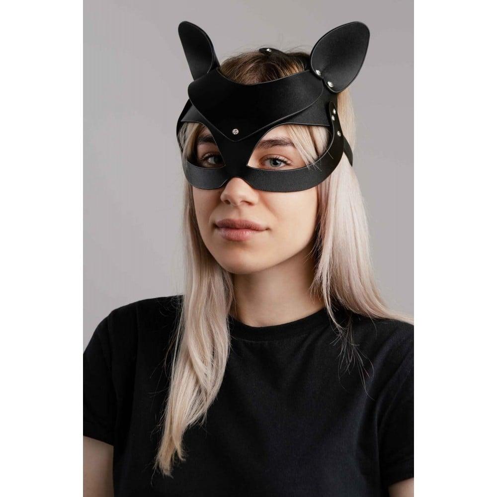Кожаная маска кошечки NO TABOO - No Taboo