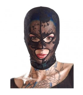 Кружевная маска на голову в отверстиями для глаз и рта Bad Kitty «Mask Lace» - No Taboo