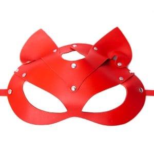 Маска кошка красная (кожа) (27916), zoom