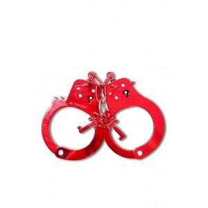 Металеві наручники червоні Fetish (8232), zoom