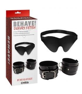 Набор маска+наручники Behave Luxury Fetish - No Taboo