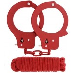 Набор наручники и бандаж BONDX Metal Cuffs красный