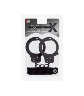 Набор наручники и бондаж BONDX Metal Cuffs - No Taboo