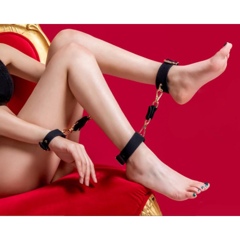 Набор наручники, поножи, кляп силикон Roomfun (33464), фото 10 — секс шоп Украина, NO TABOO