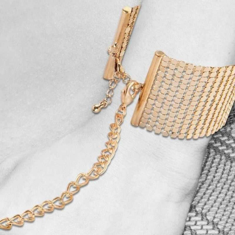 Наручники DESIR METALLIQUE золотисті Bijoux Indiscrets (30376)