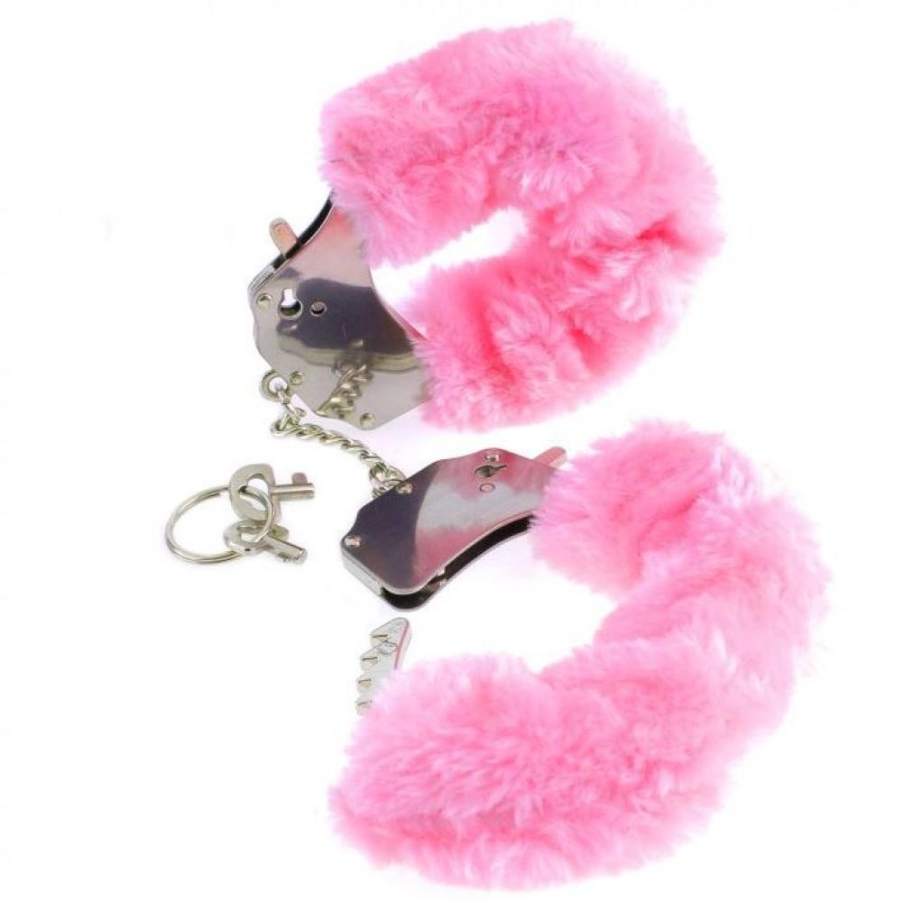 Наручники Furry- Pink пушистые розовые, Fetish (14449)
