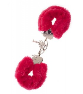 Наручники из меха Dream Toys красные