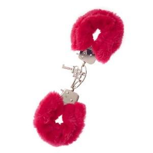 Наручники з хутра Dream Toys червоні (2112), zoom