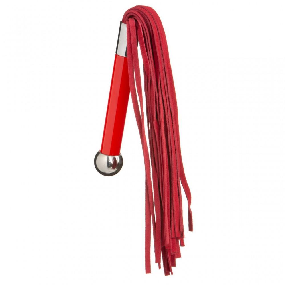 Флоггер (плетка) красный 24 см с металлическим шариком на ручке NO TABOO (32843), фото 2 — секс шоп Украина, NO TABOO