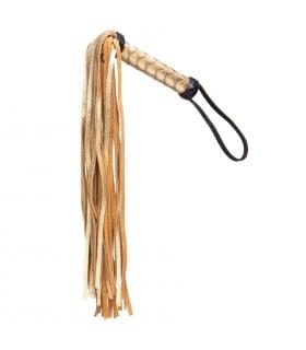 Плетка золотая из кожи Голландия ручная работа - No Taboo