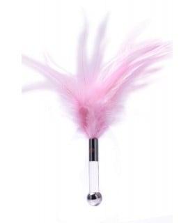 Пушок на короткой пластиковой ручке для ласк ZALO - No Taboo